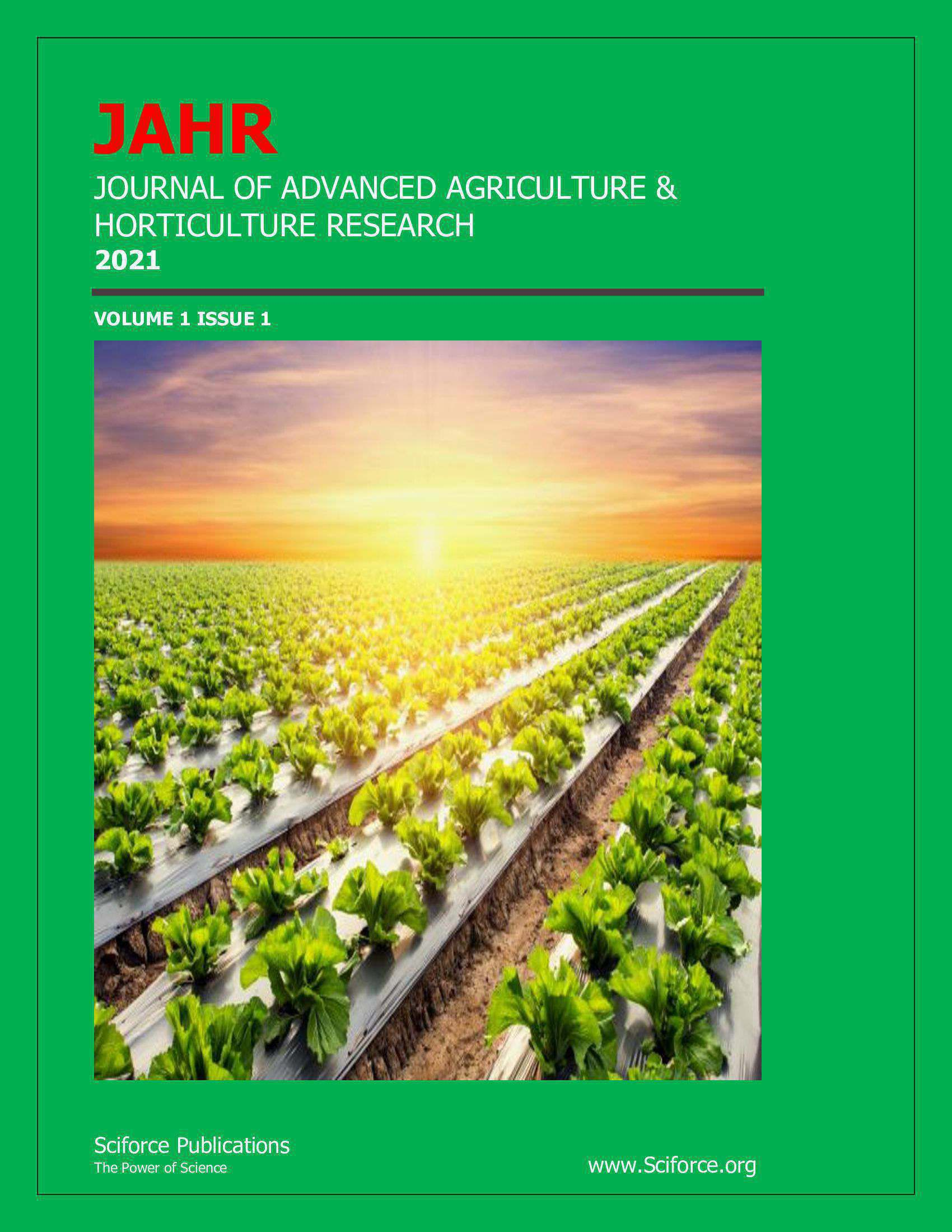 Journal of Advanced Agriculture horticulture Research